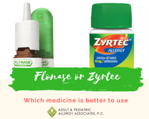 Flonase Vs Zyrtec for allergies?