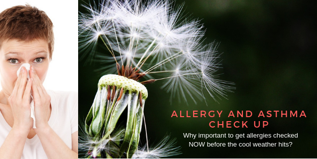 2018 Allergy and Asthma Check up Season before Fall Arrives
